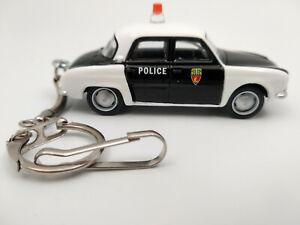 Porte clé Renault Dauphine police neuf en métal, idée cadeau sympa