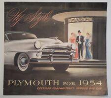 PLYMOUTH BELVEDERE SAVOY & PLAZA original 1954 Large USA Mkt Sales Brochure