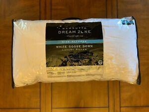 NEW!! WAMSUTTA Dream Zone White Goose Down Side Sleeper Luxury Pillow (KING)