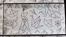 SET of 8 PRINTED METRO TILES IKIGAI TILE ART ACCENT METRO TILES DECORATIVE UK