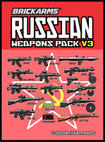BrickArms Russian Weapons Pack V3 Fits Lego Minifigs