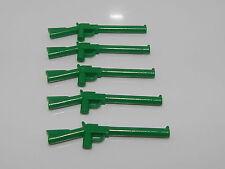 Lego Minifigure Lot Of 5 Weapons Green Gun Rifle W10