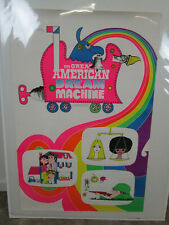 Original Vintage Poster Great American Dream Machine PBS Psycadelic 1971 Bunin