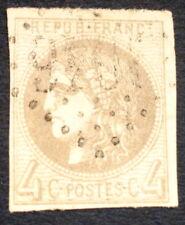 timbre france, n°41b, 4c gris bordeaux, TB, Obl, cote 325e signe Calves