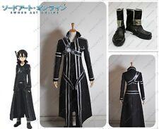 Sword Art Online Kazuto Kirito Kirigaya cosplay Costumes Shoes Full Set New