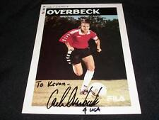 Team Usa Carla Overbeck Auto Signed Vintage Soccer 5x7 Photo Card C