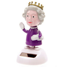 SOLAR POWERED DANCING QUEEN ELIZABETH NOVELTY GIFT DESKTOP TOY SECRET SANTA