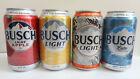 Limited Ed. Busch / Busch Light Cans, EMPTY, 4 Diff. Latte, Apple, Corn, Camo
