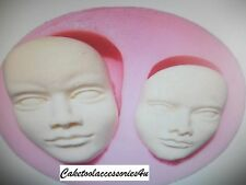 Baby Face Pastel Molde Facial Cabeza Humana Silicona Glaseado Sugarcraft Fimo Chocolate