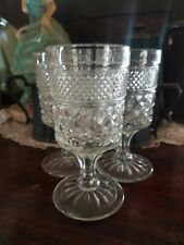 Set of 3 Anchor Hocking Wexford Claret Wine Glasses DISCONTINUED 1962-1998 EUC