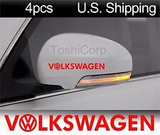 4 VOLKSWAGEN Stickers Decals Door handle Wheels Wing mirror VW Golf jetta RED