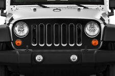 Custom Vinyl Decal Grille Wrap for Jeep Wrangler Rubicon Grill Skin 07-16 BLACK