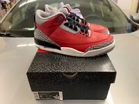 Brand New Ships ASAP - Nike Air Jordan 3 Retro Red Cement Size 8.5