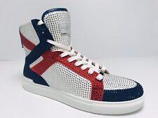 Men's Spezia High White | Navy | Red Fashion Sneakers