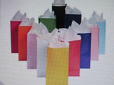 144 BAGS bulk BIRTHDAY PARTY favor bag 12 COLORS lunch sack School supplies