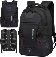 Mens Black Oxford School Backpack Travel Satchel Bag Shoulder Handbag