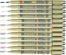 Sakura Pigma Micron pens 12 Fineliner Drawing Set 05 Assorted Colors New!