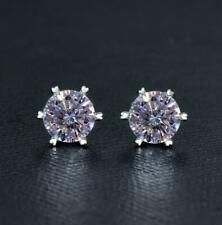 Silver 2ct Moissanite Diamond Earring Wedding Anniversary earrings Women Gift