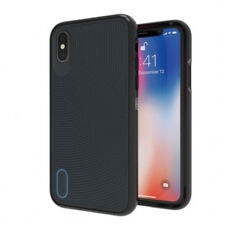 Coque Gear4 iPhone X Batterxsea coloris noir bleu