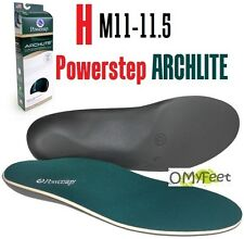 Powerstep ArchLite Full Length Cushioned Shoe Insoles Size H  Men 11 11.5