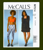 Jacket, Sports Bra, Skirt, Leggings Sewing Pattern (L-XXL) McCalls 7514~OOP