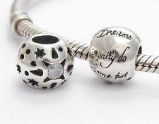 DREAMS COME TRUE CHARM Bead Sterling Silver .925 for European Bracelet 930