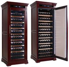 The Rochester Wine Cooler Cabinet Cherry Wood Prestige Imports| 146 Bottles