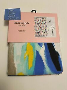 "NEW KATE SPADE New York White Fabric Shower Curtain 72 x 72"" Multicolor Abstract"