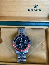 Vintage Rolex GMT Master 1675 Pepsi Red & Blue Stainless Steel MK3 Radial DIAL