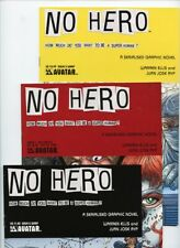 No Hero #0, #1, #3, #5, and #7 Avatar Press Lot of 5 Books