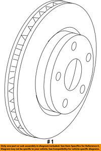 CHRYSLER OEM Rear Brake-Rotor 68242650AB