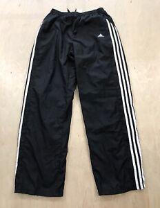 Adidas Sweatpants Track Pants Black/White Stripes Women's Size XL