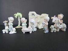 Precious Moments Natividad Conjunto!!! 9 piezas Natividad & 6 Piezas De Accesorios!!!