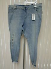 d40b4955329aa Old Navy Rockstar Light Denim High Rise Super Skinny Jeans Size 22 Plus NWT