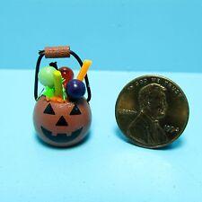 Dollhouse Miniature Halloween Pumpkin Trick or Treat Container ~ Sh505