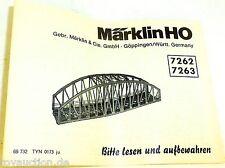 7262 7263 Märklin manual de instrucciones 68 732 Tyn 0173 Ju Å