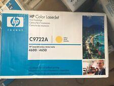 Genuine HP Color LaserJet C9722A Yellow Toner Cartridge 4600 4650 (Z2)
