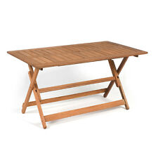Outdoor Garden Furniture Rectangular Hardwood Wooden Folding Table Patio Decking