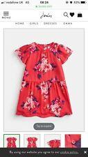 Neues AngebotBnwt Mädchen Joules Pink Floral Chiffon Kleid Alter 11 - 12 Höhe 146 -152