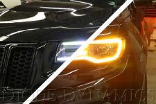 2014-2017 Jeep Grand Cherokee Switchback Daytime Light LED Headlight Halo Pair