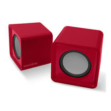 SPEEDLINK Twoxo USB-powered Compact Cube Stereo Speakers, Red (SL-810004-RD)