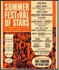 SUMMER FESTIVAL OF STARS RARE VINTAGE CONCERT POSTER 1962
