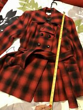 Womens Cato Wool Plaid Red Jacket Size L