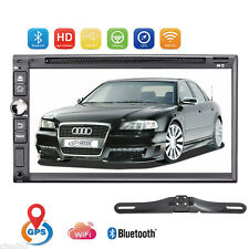 "7"" Android 7.1 4G WiFi 2DIN Car Radio Stereo HD DVD CD Player GPS+Back up Camera"