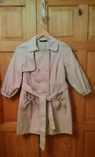 Atmosphere Beige Colour Mac Style Coat with Belt - Size 10