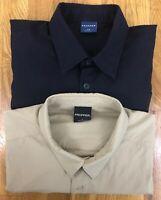 LOT 2 Propper Men's Black/Tan Lightweight S/S Tactical Shirts Two Pocket Large