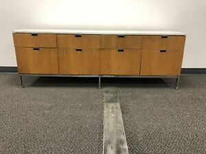 Florence knoll Marble Top Oak Credenza