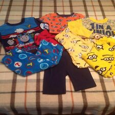 NWT Boy's PJ sets mix lot 2T-3T-4T Thomas&friends Despicable Me2 Minion Carters