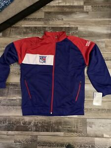 NHL New York Rangers Fleece Lined Track Jacket Youth Size XL