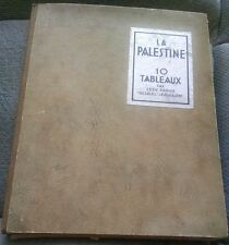 1931 Palestine 10 Pictures by Ze'ev Raban of Bezalel Prints of Israel IN FRENCH
